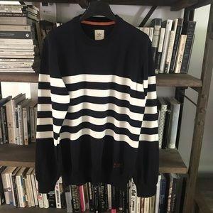 Dockers Navy Striped Crewneck Sweater M NWOT